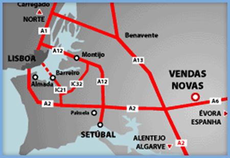 mapa auto europa O Parque Industrial de Vendas Novas mapa auto europa
